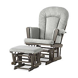 Child Craft™ Forever Eclectic™ Tranquil Glider in Dapper Grey/Grey with Ottoman
