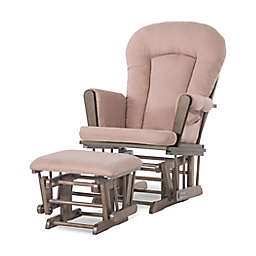 Child Craft™ Forever Eclectic™ Tranquil Glider in Cocoa Bean/Blush with Ottoman