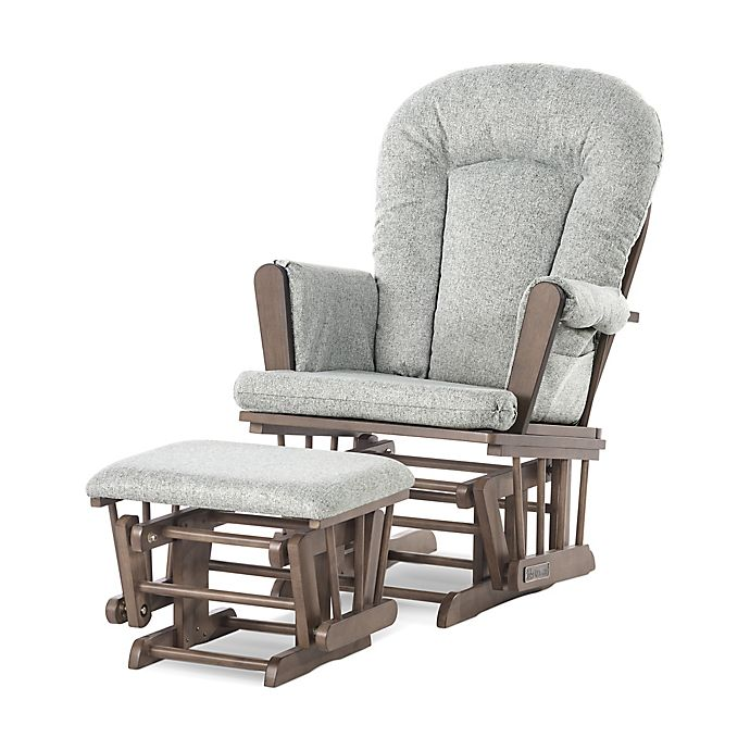 Alternate image 1 for Child Craft™ Forever Eclectic™ Tranquil Glider in Cocoa Bean Finish with Ottoman