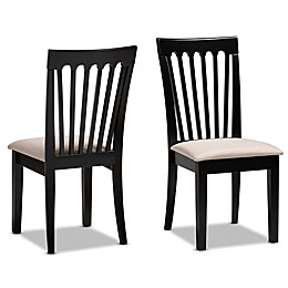 Baxton Studio™ Salome Dining Chairs in Brown (Set of 2)