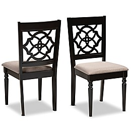 Baxton Studio™ Raoul Fabric Dining Chairs in Brown (Set of 2)