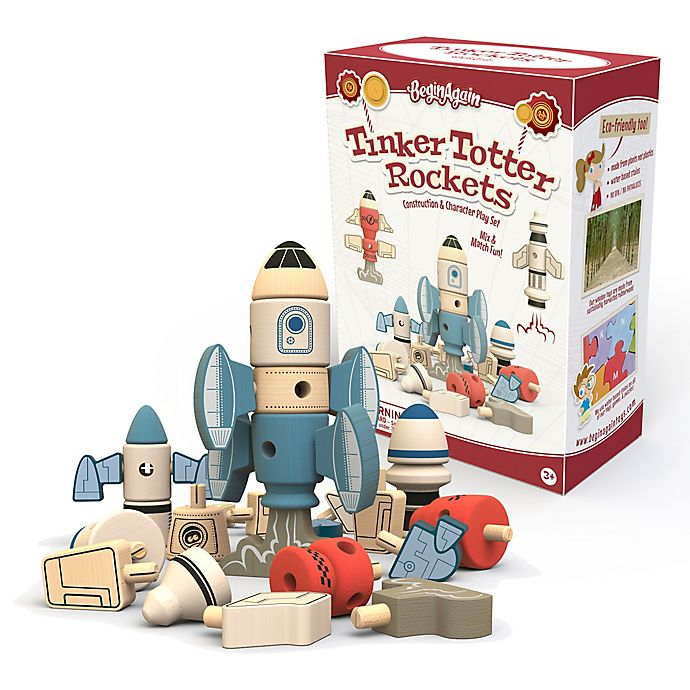 Alternate image 1 for BeginAgain Tinker Totter Rockets Construction Playset