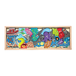 BeginAgain 26-Piece Ocean A to Z Wooden Puzzle Playset
