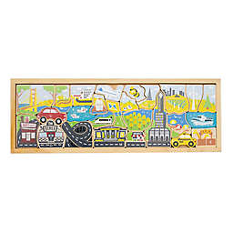 BeginAgain 26-Piece City A to Z Wooden Puzzle Playset