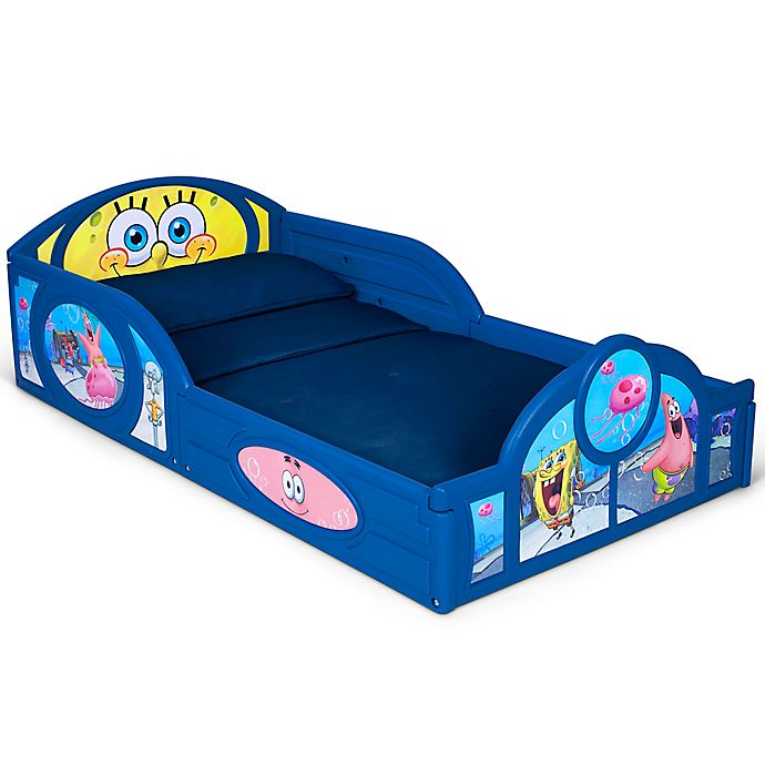 Alternate image 1 for Delta Children Nickelodeon™ SpongeBob Plastic Sleep & Play Toddler Bed