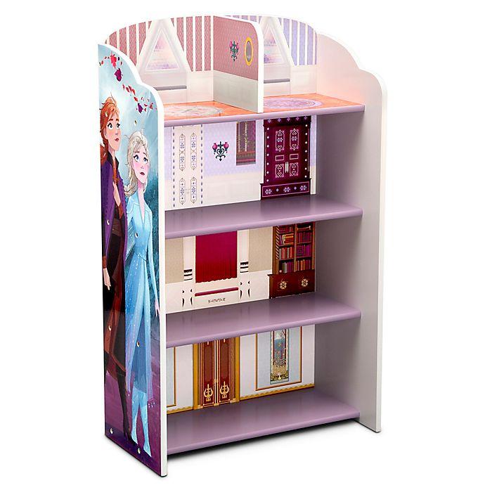 Alternate image 1 for Delta Children Disney® Frozen II Wooden Playhouse 4-Shelf Bookcase in Blue