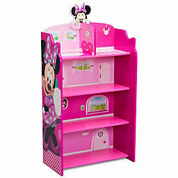 Delta Children Disney® Minnie Mouse Wooden Playhouse 4-Shelf Bookcase in Pink