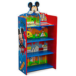 Delta Children Disney® Mickey Mouse Wooden Playhouse 4-Shelf Bookcase in Red