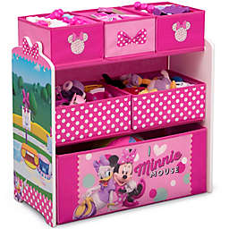 Delta Children Disney® Minnie Mouse 6-Bin Design and Store Toy Storage Organizer