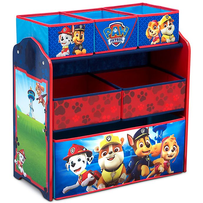 Alternate image 1 for Delta Children Nick Jr.™ PAW Patrol 6-Bin Design and Store Toy Organizer