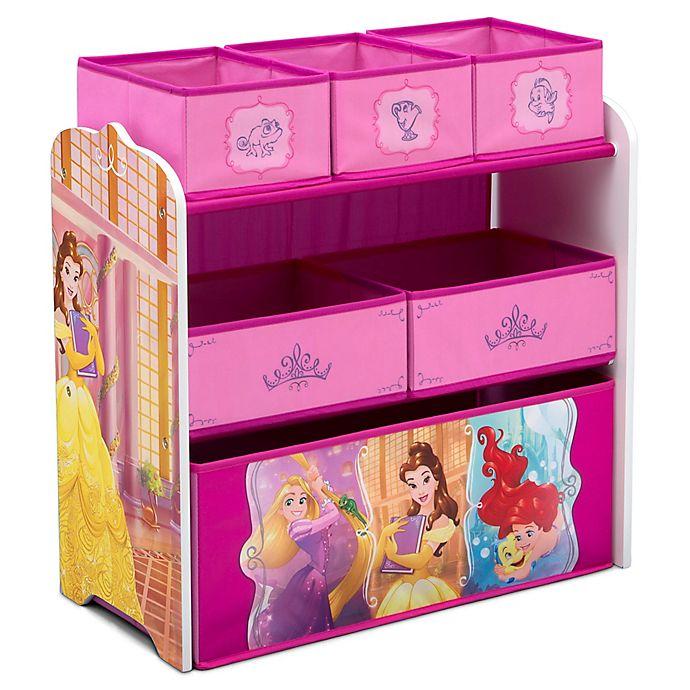 Alternate image 1 for Delta Children Disney® Princess 6-Bin Design and Store Toy Storage Organizer
