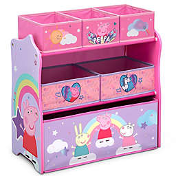 Delta Children Peppa Pig 6-Bin Design and Store Toy Storage Organizer