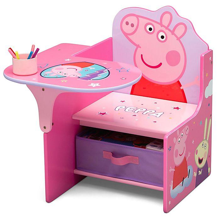 Alternate image 1 for Delta Children Peppa Pig Chair Desk with Storage Bin