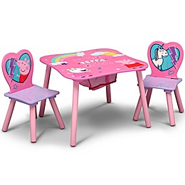 Delta Children Peppa Pig Table and Chair Set with Storage
