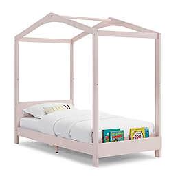 Delta Children Poppy House Twin Platform Bed in Blush Pink