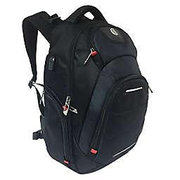 Swiss Digital Neptune Massaging Backpack in Black
