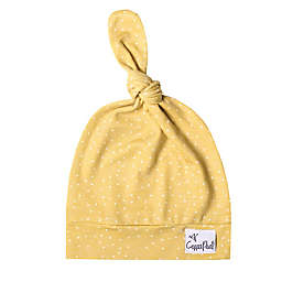 Copper Pearl™ Size 0-4M Top Knot Hat in Marigold