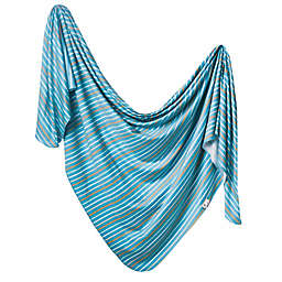 Copper Pearl™ Milo Swaddle Blanket in Blue
