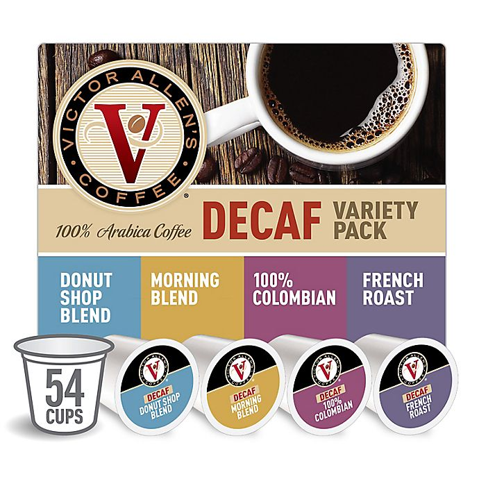 Alternate image 1 for Victor Allen® Decaf Coffee Pods Variety Pack for Single Serve Coffee Makers 54-Count
