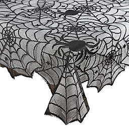 DII® Halloween Lace 54-Inch x 72-Inch Oblong Tablecloth in Black
