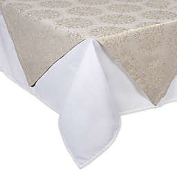 DII® Winter Sparkle Jacquard 40-Inch x 40-Inch Table Topper in Winter