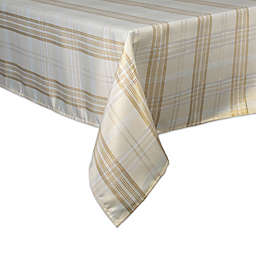DII® Metallic Plaid Tablecloth in Cream