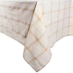 DII® Lurex Plaid 60-Inch x 120-Inch Oblong Tablecloth in Metallic Gold