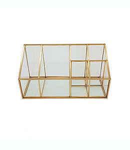 Organizador de vidrio O&O by Olivia & Oliver™ con 6 compartimentos color oro