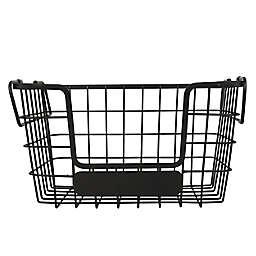 Salt™ Stackable Iron Fruit Basket in Black