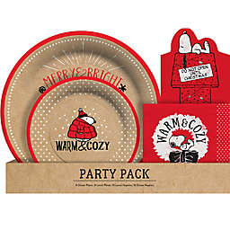 CR Gibson® Peanuts™ 48-Piece Tableware Holiday Party Pack