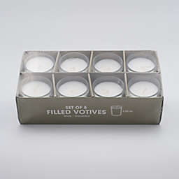 Votive Candles in White (Set of 8)