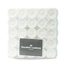 Tealight Candles in White (Set of 50)