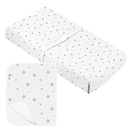 Kushies® Star Organic Cotton Changing Pad with Cover in Grey