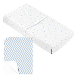 kushies® Changing Pad Cover+Liner in Blue
