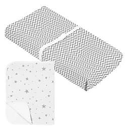 Kushies® Chevron Scribbles & Stars Changing Pad Cover and Liner in Grey