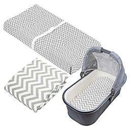 kushies® 2-Piece Chevron Fitted Crib Sheet and Bassinet Sheet Set in Grey<br />