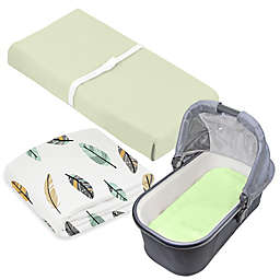 kushies® 3-Piece Feather Crib Sheet, Bassinet Sheet, and Changing Pad Cover Set in Green