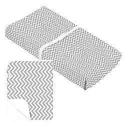 Kushies® Changing Pad Cover & Liner in Grey Chevron