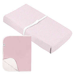 kushies® Changing Pad Cover+Liner in Pink