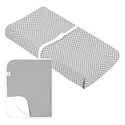 kushies® Changing Pad Cover+Liner in Grey