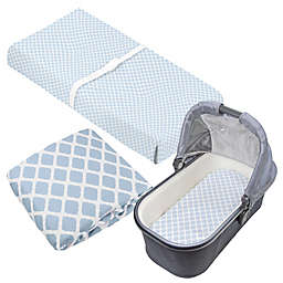 kushies® 3-Piece Lattice Crib Sheet, Bassinet Sheet, and Changing Pad Cover Set in Blue