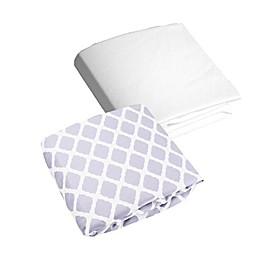 kushies® Lattice Flannel Fitted Crib Sheets (Set of 2)