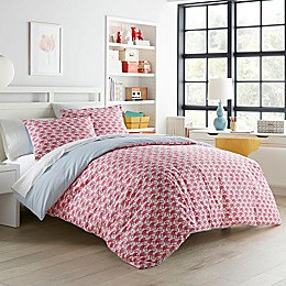 Poppy & Fritz® Flamingo 3-Piece Reversible Duvet Cover Set in Pink