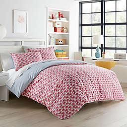 Poppy & Fritz® Flamingo 3-Piece Reversible Full/Queen Duvet Cover Set in Pink