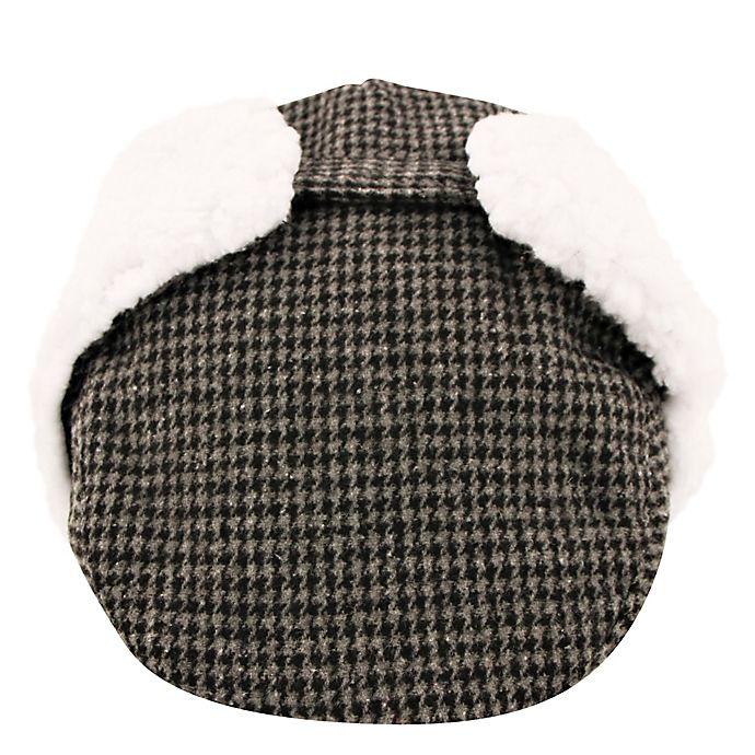 Alternate image 1 for Addie & Tate Newborn Houndstooth Trapper Hat in Grey