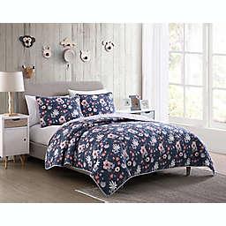 Kute Kids Lexy Floral Quilt Set in Purple