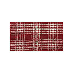 Bee & Willow™ Home Plaid 1'8 x 2'10  Accent Rug in Berry