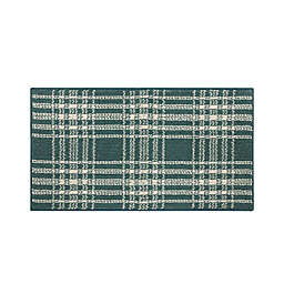 Bee & Willow™ Plaid 1'8 x 2'10 Accent Rug in Teal/Cream