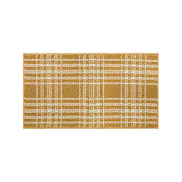 Bee And Willow™ Home Plaid 1'8 x 2'10 Accent Rug in Gold/Cream