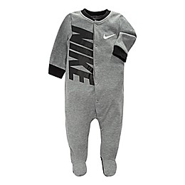 Nike® Futura Swoosh Footed Coverall in Grey/Black